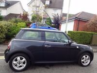 (2009) MINI COOPER Chilli NEW MODEL ASTRO BLACK ONLY 55K MILES, FSH, AC, HALF LEATHER, TOP SPEC MINI
