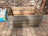 Set 3 Stackable Folding Wooden Crate Planks