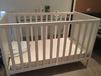 Almost brand new Ikea Cot Bed SUNDVIK White