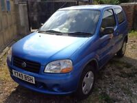 Cheap to Clear 2001 Suzuki Ignis 1.3 Petrol Blue 3 Door FULL MOT Bargain