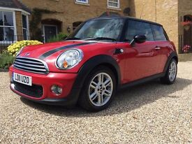 2011 MINI Cooper 1.6 D 3dr DIESEL, long MOT, new front tyres, PRICE REDUCED £6,750