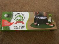TOILET TIME GOLF PUTTING GAME NEW