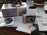 """CANON"" POWERSHOT A40 COMPACT DIGITAL CAMERA. CF cards ( 256mb & 8mb) +. £45 NO TEXTS PLEASE."