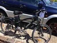Electric bike men's black