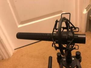 Shure Pro Shotgun Mic for Cameras or Boom Arms (with free shock mount)