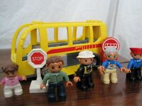 Lego Duplo Bus and Characters plus Set of Megabloks for making your own exciting construction
