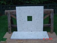 Marble Fire Hearth and Marble Back. Can Deliver.