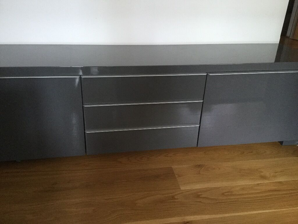 barely used ikea tv cabinet for sale besta burs tv bench. Black Bedroom Furniture Sets. Home Design Ideas