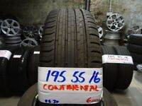 matching set 195 55 16 continentals 6mm tread £100 for set SUPP & FITTED 7-DAYSBB