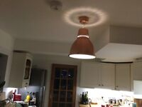 STUNNING CELING LIGHT for new home or new look for old home. Brand new Habitat Industry copper light