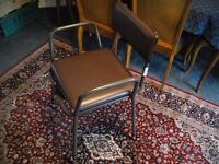 Commode Chair Black and Brown