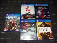 5 ps4 games