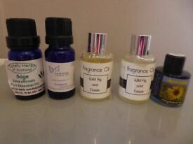 IMPRESSIONS & M&S FRAGRANCE DIFFUSER OILS + 2 OTHERS, ALL NEW + 3 OTHER HARDLY USED ONES