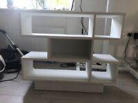 Bookshelf small white Argos as new
