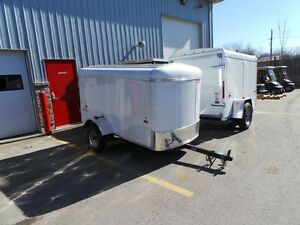 2016 Haulin HALS48SA 4X8 SINGLE AXLE ENCLOSED TRAILER