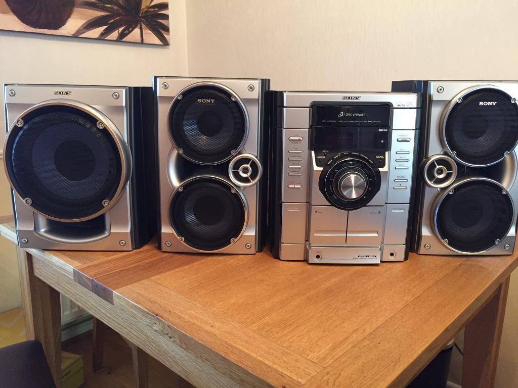 sony sound system. sony (model number hcd-rg475) 3 disk changer radio/stereo/sound sound system