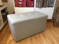 "Cube Stool - Isle Mill ""Liso"" Fabric"