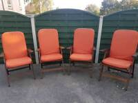 Solid wood garden chairs & cushions