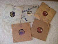 78 rpm records, 1920's, 1930's, dance, foxtrot etc, song, music, 10 records (batch 1), titles below