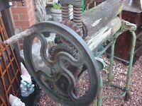 old fashioned metal mangle