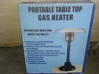 Portable table top gas heater