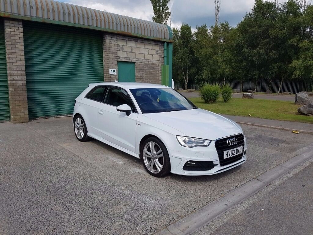 audi a3 s line new shape in white in bridgend gumtree. Black Bedroom Furniture Sets. Home Design Ideas