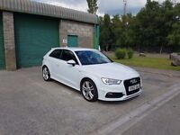 Audi A3 S-Line, new shape in white