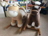 Mamas and papas musical rocking horses