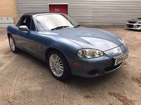 2004 MAZDA MX5 EUPHONIC BLUE ARCTIC EDITION 49000 MILES 1 OWNER HEATED LEATHER
