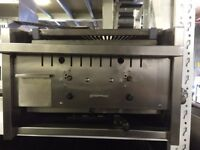 CAFE RESTAURANT FAST FOOD TAKEAWAY ARCHWAY 2 BURNER LONG 60CM CHARCOAL GRILL