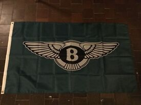 Bentley motors Continental GT Mulsanne Zagato Arnage Brooklands coupe workshop flag banner