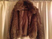 Ladies Miss Selfridge small fur jacket