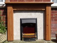 waxed pine fire place