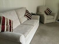 3 seater settee and two armchairs