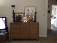 Oak veneer sideboard excellent condition
