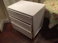Painted White Wooden Chest of Drawers/Baby Changer for Bedroom or Bathroom