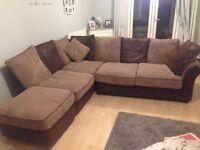 Corner sofa plus foot stool
