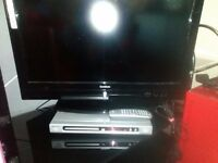 """26"""" lcd with built in free view hdmi etc also phillips dvd player nice set up at £65"""