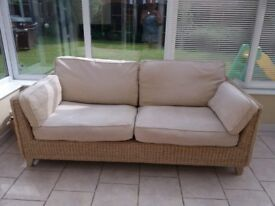 M&S Cream Conservatory Sofa & Chair for Sale - £220
