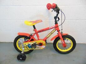 """Apollo Firechief Kids Bike (12"""" tyres, with stabilizers) (suit 3 to 5yr old)"""