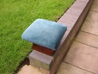 An attractive Victorian mahogany upholstered footstool.