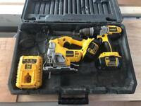 Dewalt Twin Kit - XR Jigsaw and Combi Drill