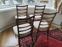 Dining chairs by Niels Koefoed. Midcentury Danish