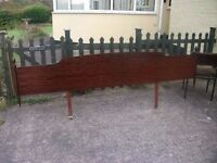Large Dark Wood Headboard Delivery available