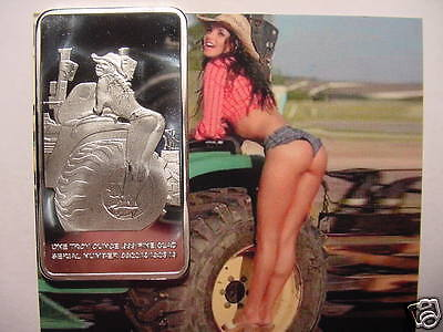 Rare WORLD of FARM GIRL In 1oz SILVER CLAD ART BAR- Picture Included -