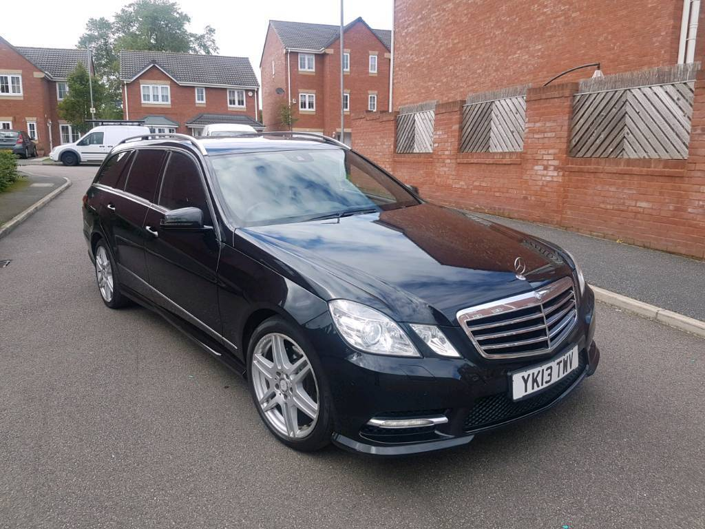 2013 mercedes e class e220 cdi amg sport auto estate black for Mercedes benz e class black