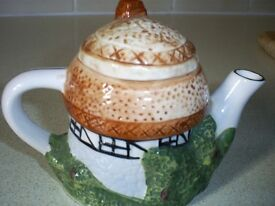 Vintage 1970's small ornamental Teapot