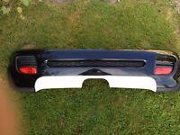 GENUINE BMW MINI GEN2 R56 R57 R58 R59 John Cooper Works AERO Rear Bumper Midnight Black JCW RARE