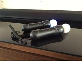 2 PlayStation move controllers PS3/PS4