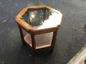 Occasional Table with glass top